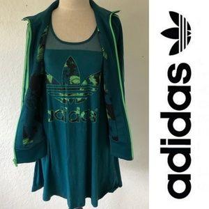 ❣Adidas Original - Tropical Hawaii Dress & Jacket